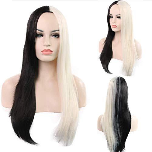 (Wig Frauen Lange Geradlinige Haarmode Frauen Flauschige Frisur Für Alltags-und Halloween-Partys)
