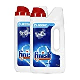 Finish Dishwasher Detergent Powder, Classic - 1 Kg (Pack of 2)
