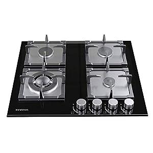 INFINITON GGMCI-421 ENCIMERA DE Gas – Placa de Cristal – 4 Fuegos – Encendido electronico