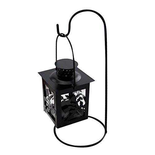 hunpta hueca soporte para velas candelabro para colgar farol Retro Vintage farol forjado
