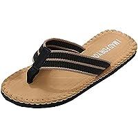 Flip Flops Herren,sonnena Männer Sommerschuhe Sandalen männlich Pantoffel Indoor oder Outdoor Flip Flops EVA/Schaum/Beach/Flip Flops (41, Gut Schwarz)