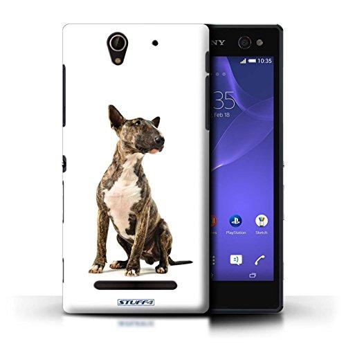 Kobalt® Imprimé Etui / Coque pour Sony Xperia C3 / Labrador conception / Série Chiens Bull Terrier