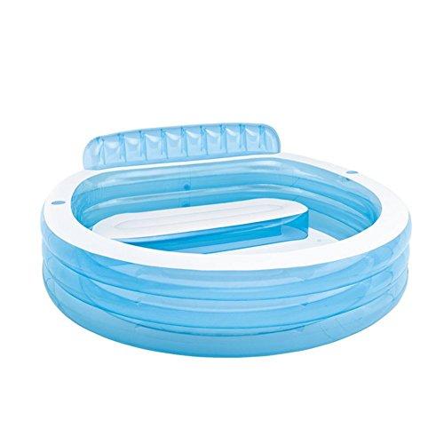 CHENG Whirlpools Aufblasbar mit elektrischer Luftpumpe Faltbare, langlebige Whirlpools für Erwachsene Babysitze,224 * 216 * 76cm