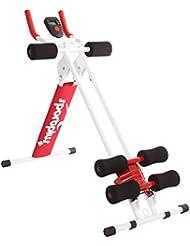 SportPlus AB Plank Bauchtrainer mit Trainingscomputer, blau, 4-facher Schwierigkeitsgrad, zusammenklappbar, SP-ALB-011