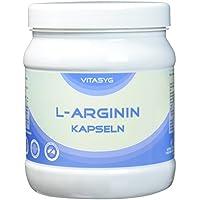 Preisvergleich für Vitasyg L-Arginin Kapseln - 450 Kapseln - hochdosiert mit 4000MG reinem L-Arginin pro Tagesdosis - Made in Germany...