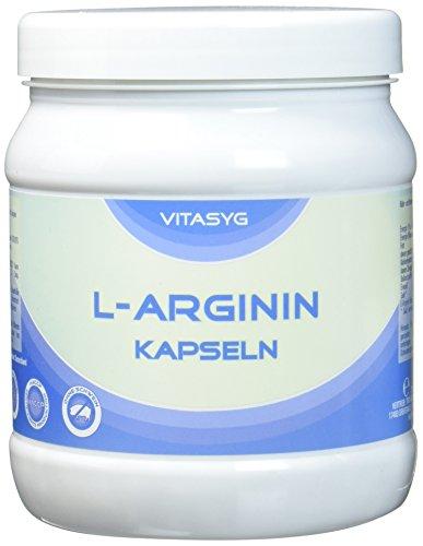 Vitasyg L-Arginin Kapseln - 450 Kapseln - hochdosiert mit 4000MG reinem L-Arginin pro Tagesdosis - Made in Germany - XXL Dose - Arginin aus pflanzlicher Fermentierung 1er Pack (1 x 270 g)