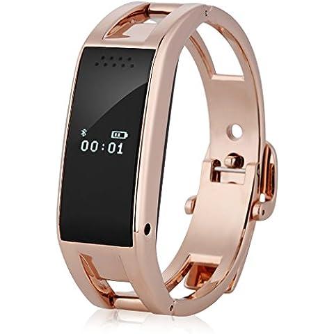 Diggro Oled Reloj de Pulsera Smartwatch Bluetooth (Snyc, Anti-robo, Podómetro, Monitor Sueño, Cámara Control Remoto) Compatible con Android iOS