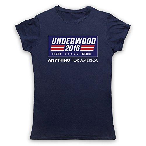 Inspiriert durch House Of Cards Underwood For President 2016 Inoffiziell Damen T-Shirt Ultramarinblau