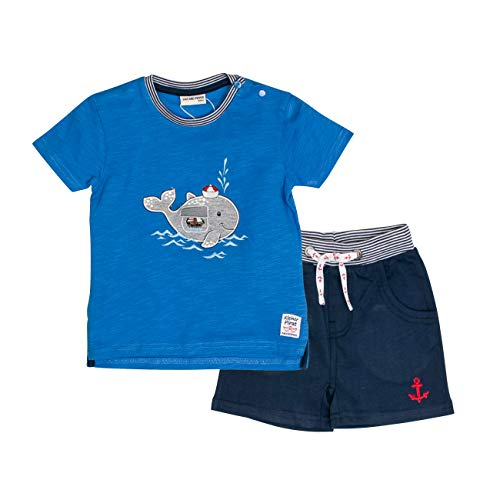 SALT AND PEPPER Baby-Jungen Set Piraten Wal Uni Bekleidungsset, Blau (Strong Classic Blue 465-486), 80 (Piraten-baby)