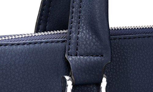 Männer Geschäfts-Beutel-Handtaschen-Art- Und Weisecomputer A4 Aktenkoffer Beiläufige Beutel-Mann-Beutel-Schulter-Kurier-Beutel Blue