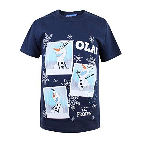 Disney frozen olaf photoshoot t-shirt, blu (navy navy), 3-4 anni bambina