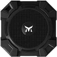 Monstercube Armor Speaker Bluetooth nero, portatile, 5W di potenza in uscita, bassi alta qualità / Resistente all'acqua / Resistente alla polvere / Resistente agli urti, universalmente compatibile con tutti i telefoni, tablet, pc, ottimo per doccia e attività all'aria aperta, vivavoce portatile con microfono incorporato per agevolare le chiamate