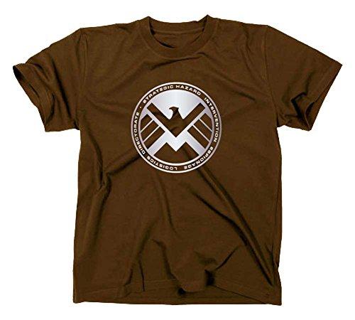 S.H.I.E.L.D. Logo T-Shirt, shield, XXL, braun