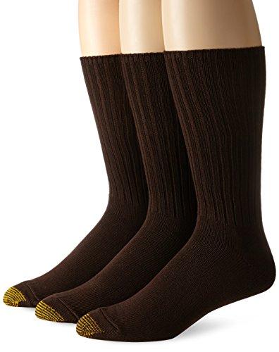 Gold Toe Herren Socken Braun Braun - Herren-baumwoll-socken Toe Gold