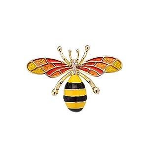 aimaoer Niedliches Bienen-Männliches und Weibliches Einfaches Atmosphärenart und Weisemantel-Strickjackenzubehör der Brosche