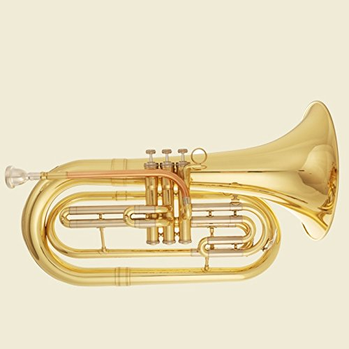 Tuyama® TMB-177 Marching Bariton / Basstrompete in B (Messing, enge Bohrung)