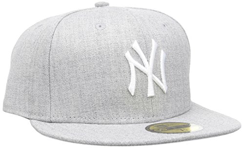 New Era MLB Basic NEYYAN Heather Grey/White casquette de Baseball Homme, Gris), Large (Taille fabricant: 7 3/8)