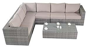 Port Royal Rustic Large Left Hand Facing Corner Sofa Set, Grey