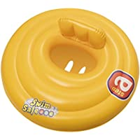 Bestway Baby Swim Safe Seat (Step A) Learn to Swim Round Inflatable, Yellow, 0-12 Months
