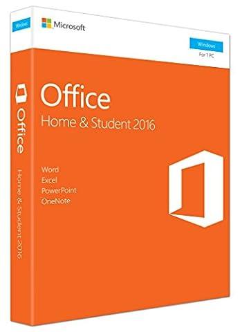 Office Famille et Etudiant 2016 - 1 PC (téléchargement)-(PC en Téléchargement)
