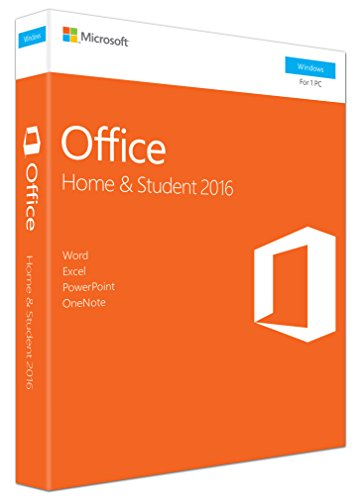 Microsoft 79G-04597 (2016) Home und Student 32-bit/x64 English PKC P2|Office 2016 Home & Student 32-bit/x64 English|PC|Disc