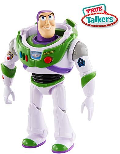 Mattel GFR28 - Toy Story 4 Sprechender Buzz Lightyear deutschsprachig, mit +15 Sätzen, 17 cm Spielzeug Action Figur ab 3 Jahren