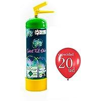 �� Globos de Cumpleaños BOMBONA de HELIO desechable - Ideal Globos Transparentes, látex y globos de números (capacidad 1 Litro - 20 Globos)