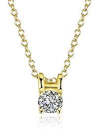 Nueva moda chapado en oro collar