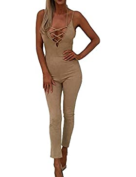 Mujer Monos Largos Fiesta Jumpsuit Vestir Elegante Playsuit Romper Pantalones Anchos