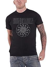 Soundgarden T Shirt Noir Blade Motor Finger band logo nouveau officiel Homme