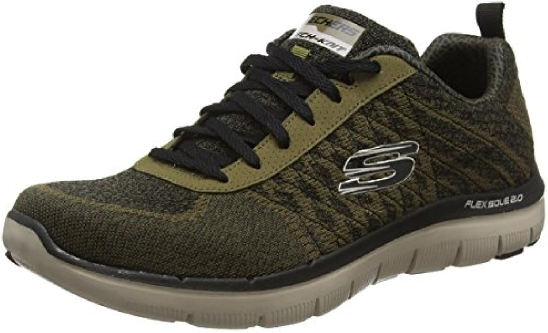 Skechers Herren Flex Advantage 2.0 Golden Point Sneakers  Gruumln (OLV   Olive)  8 UK 42 EU