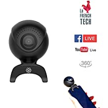 QANTIK - Astro 360 mini caméra 360 VR HD pour Smartphone Android Samsung Sony LG Huawei Livestream Facebook YouTube