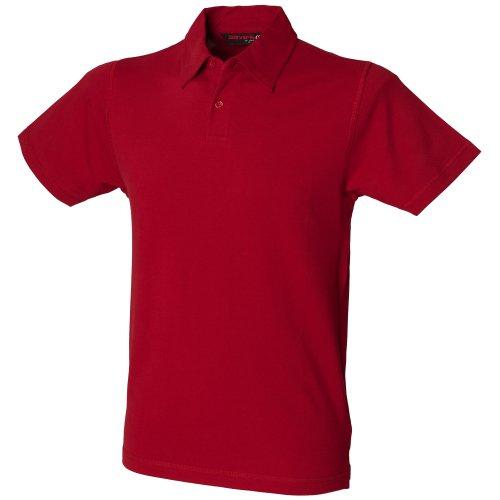 Skini Fit Herren Polo-Shirt Stretch Schwarz