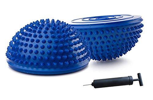 Bling Bling One Paar Balance Pods mit 1Pumpe, Kuppel Igel Style, Blau, blau - Übung Hälfte Ball
