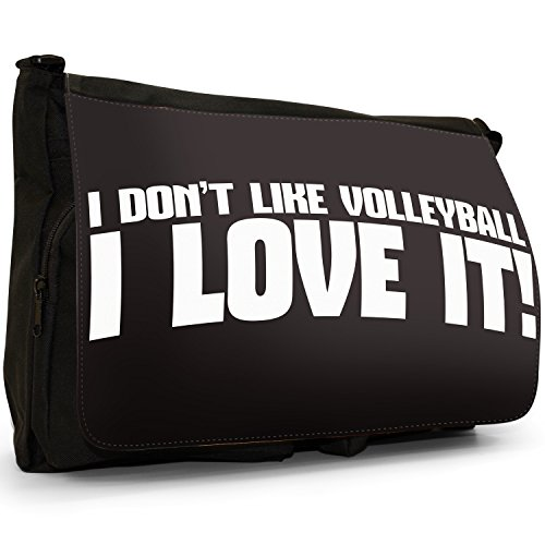 Love Sport Nero Grande borsa scuola nero I Don't Like Judo...I Love It! I Don't Like Volleyball... I Love It!