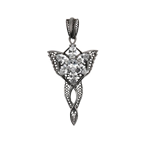 El Señor de los anillos de filigrana Arwen Evenstar blanco Dark Years Collection 925