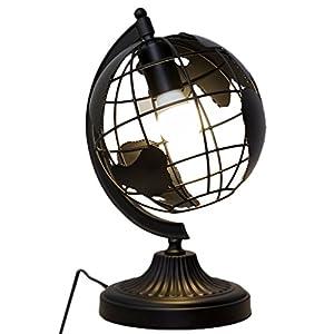 Lámpara de mesa Globe, lámpara de cabecera decorativa creativa moderna E27 mapa del mundo luces de escritorio para sala de estar habitación trabajo restaurante cafetería hotel