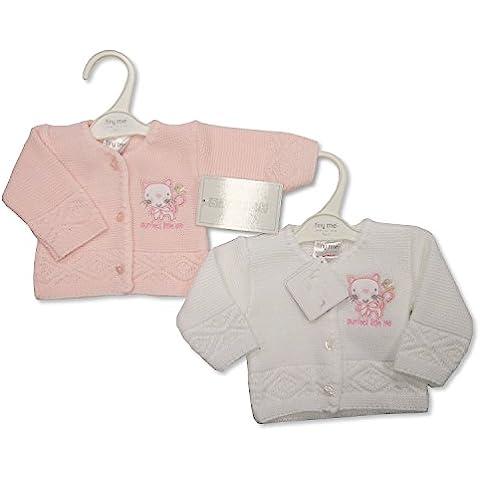 Prematuro Bebé Niña de punto Cardigans Pack de 2–3/5LBS (1.4–2.3kg)