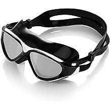HiCool Swim Goggle Masque Anti-brouillard et de la protection UV Mirrored verres pour adulte Homme et Femme
