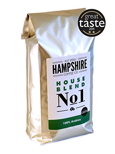 Hampshire Coffee Co – House Blend No 1- Great Taste Award Winner 2014 – Coffee Beans 1kg Bag – 100% Arabica Beans 41BlRBjeVoL