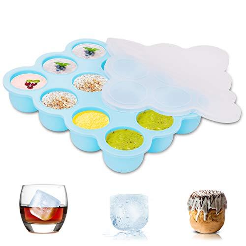 ZOUNICH Eco Silikon Baby Essen Cryo Storage Tray Clamp Silikon Cap BPA-frei und FDA genehmigt Backofen und Geschirrspüler Sicherheit Getränke, Obst, Gelee, Schokolade, Whiskey, Eis
