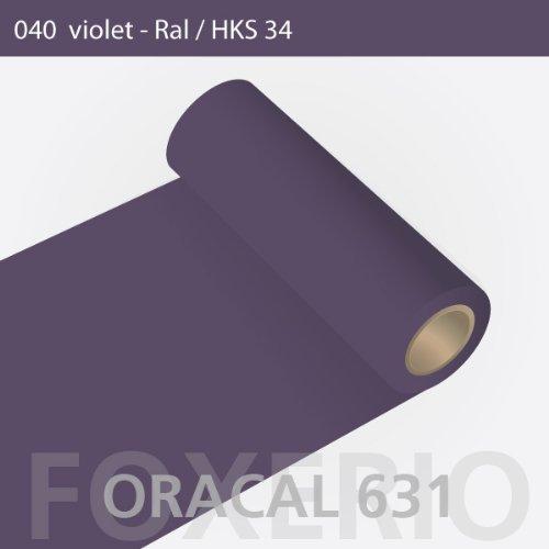 Orafol - Oracal 631 - 63cm Rolle - 5m (Laufmeter) - Violet / matt, A21oracal - 631 - 5m - 63cm - 10 - kl - Autofolie / Möbelfolie / Küchenfolie