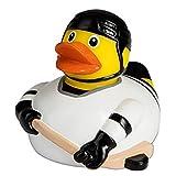 Quietsche-Ente Eishockeyspieler Badespaß Gummiente Quitschente Badeente Badespielzeug