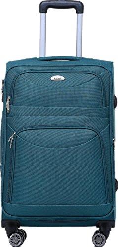 BEIBYE 8009 TSA Schloß Stoff Trolley Reisekoffer Koffer Kofferset Gepäckset (Türkis, Set) - 4