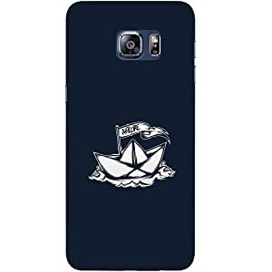 Casotec Ship Drawing Design Hard Back Case Cover for Samsung Galaxy S6 edge Plus