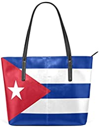 a7c6065f82213 Eslifey Flag Of Cuba Flagge von Kuba Portemonnaie PU Leder Schulter Tasche  Geldbörse für Damen…