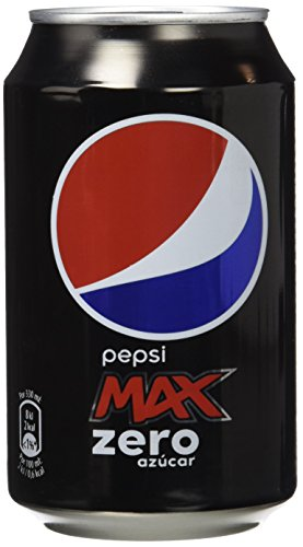 Pepsi Max Zero - Bebida Refrescante sin azúcar, lata 33 cl (Pack de 9)