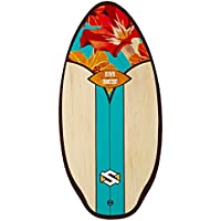 Skim One Wood Skimboard, Multicolor (San Diego Aqua/Orange/Brown), 41""