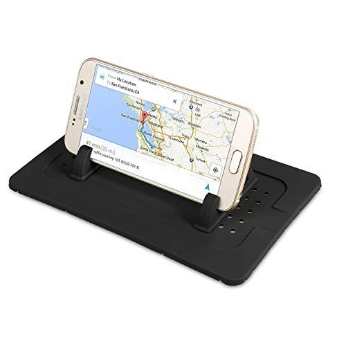 Supporto da auto per telefono cellulare in silicone, tappetino per cruscotto di auto antiscivolo per qualsiasi smartphone iphone 8/7/6 plus tablet ipad supporto da tavolo navigatore satellitare gps