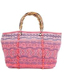 44993c9c398a5 Angkorly - Handtasche Shopper Taschen Umhängetaschen Tote bag Tote bag Seil  Geflochten Folk Ethnisch praktisch…